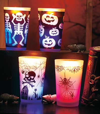 Sets of 2 Color-Changing Halloween Candles