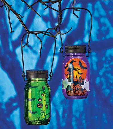 Solar Lighted Jar Lanterns