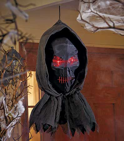 Lighted Hanging Grim Reaper