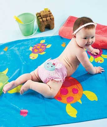 Sets of 3 Baby Beach Bum Bloomers