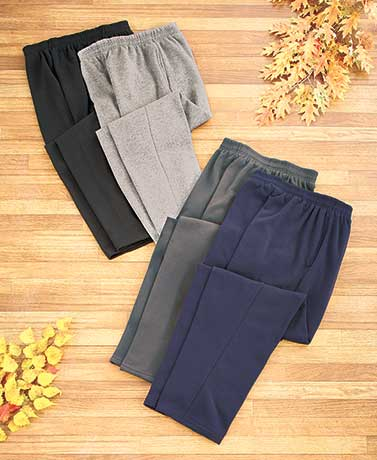 Men's Sets of 2 Fleece Pants