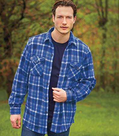Men's Plaid Fleece Casual Shirts