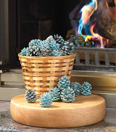 Rainbow Flame-Coloring Pine Cones