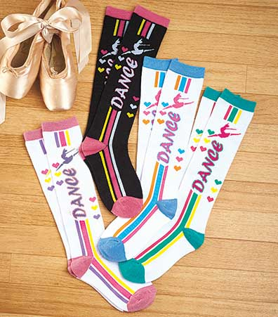 4-Pair Sporty Knee High Sets