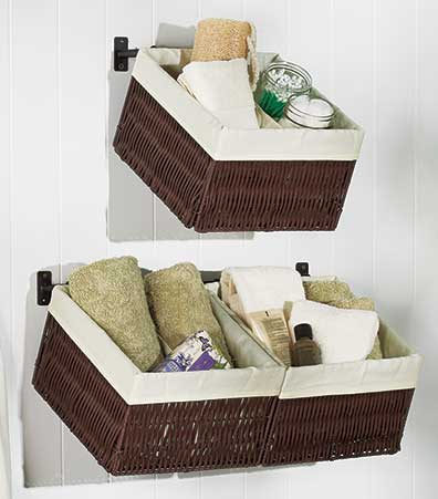 Single or Double Wall-Mounted Baskets