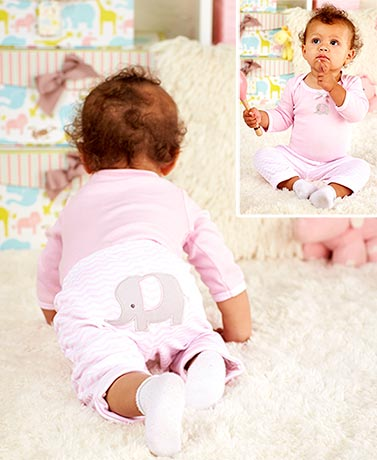 3-Pc. Baby Turn Around Elephant Outfits