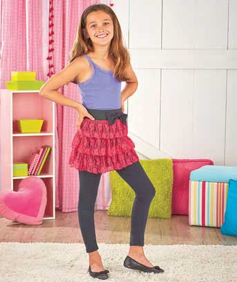 Girls' Ruffle Skirt with Elastic Waistband