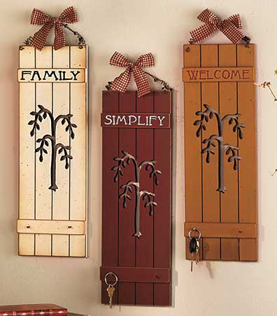 Wooden Panel Wall Hangings