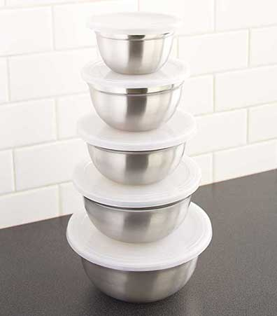 10-Pc. Stainless Steel Bowl Sets