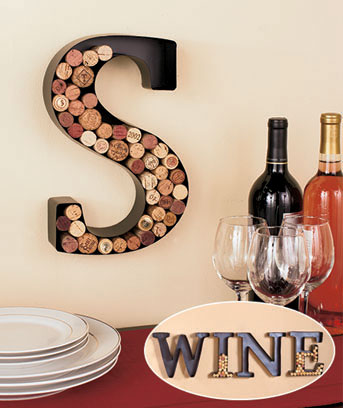 Metal Monogram Wine Cork Holders