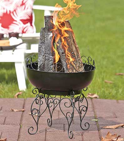 Black Scroll Fire Pit or Wood Rack