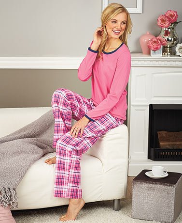 Women's Knit and Flannel Pajama Sets