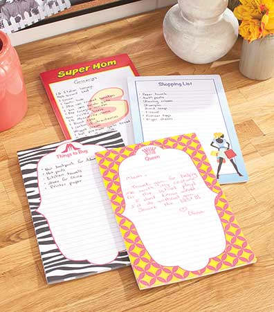 Set of 4 Large Magnetic List Pads