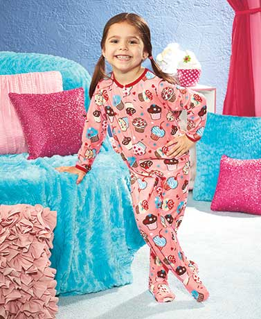 Toddlers' Footed Fleece Pajamas