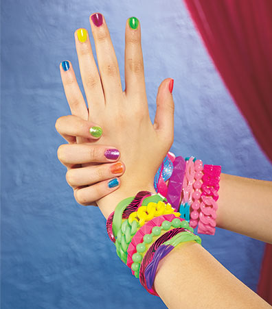 11-Pc. Nail Polish and Jelly Bracelet Sets