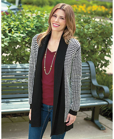 Women's Textured Cardigan Sweaters