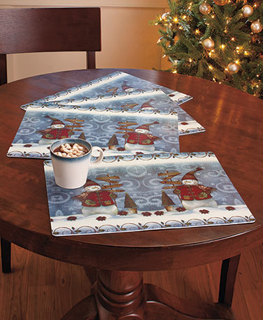 Sets of 4 Easy Care Holiday Placemats