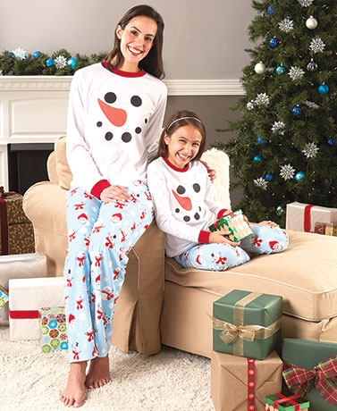 Family Snowman Pajamas