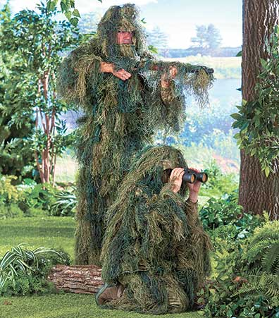 5-Pc. Woodland Ghillie Suits
