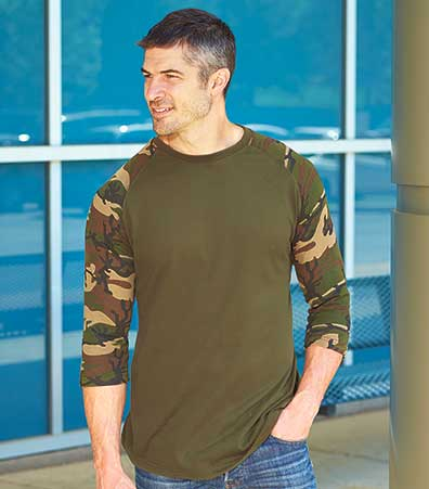 Men's Set of 2 Camo Sleeve Shirts