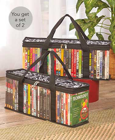 Sets of 2 media storage bags