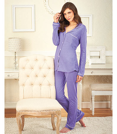 Women's Long-Sleeved Knit Pajama Sets
