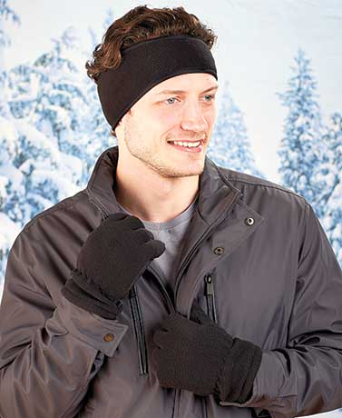 Men's Fleece Glove and Earband Sets
