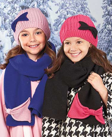 Girls' Knit Hat and Scarf Sets