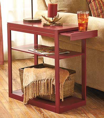 Side Table with Drink Tray