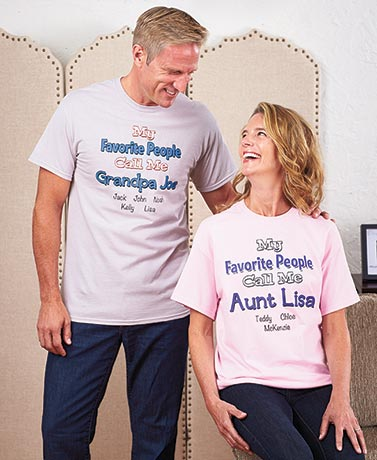 "Personalized ""My Favorite"" T-Shirts"