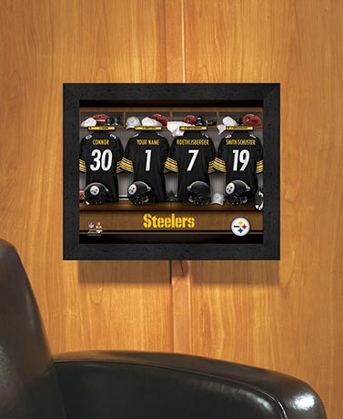 Personalized NFL Locker Room Prints