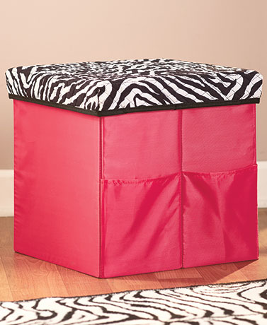 Collapsible Quilted Storage Ottomans