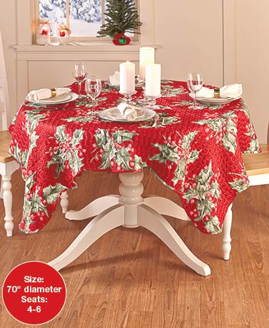 Quilted Reversible Holiday Table Linens