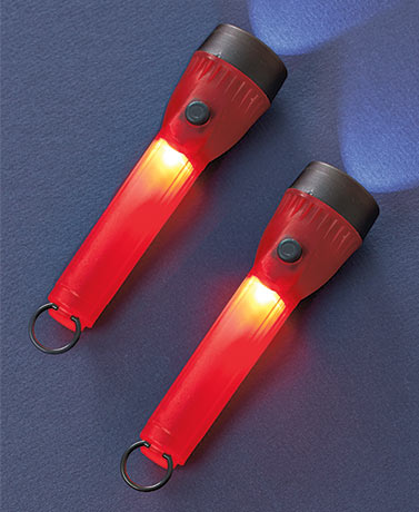 Sets of 2 LED and Glow Flashlights