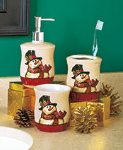 Holiday Snowman Bath Collection