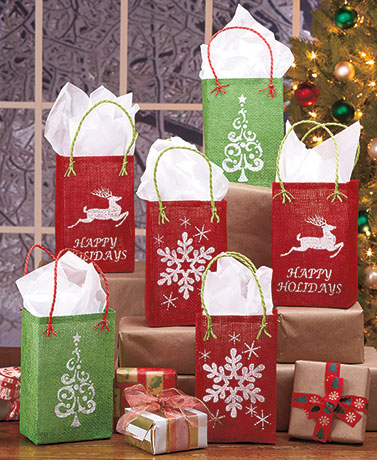Set of 6 Holiday Treat Bags