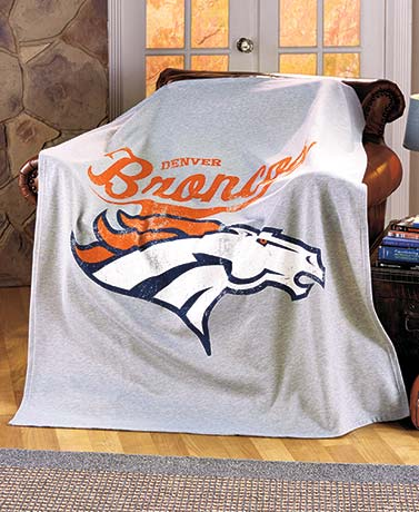 NFL Distressed Sweatshirt Throws