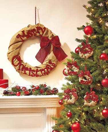 Holiday Burlap Ornaments or Wreaths