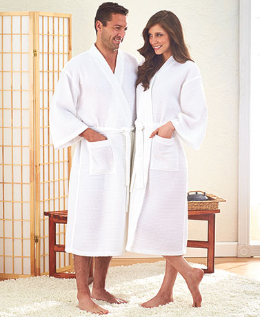 Unisex Waffle Weave Robe or Spa Accessories
