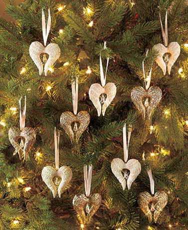 Sets of 5 Angel Wing Ornaments
