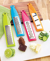 Set of 4 Colorful Graters