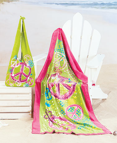 2-Pc. Beach Tote and Towel Sets