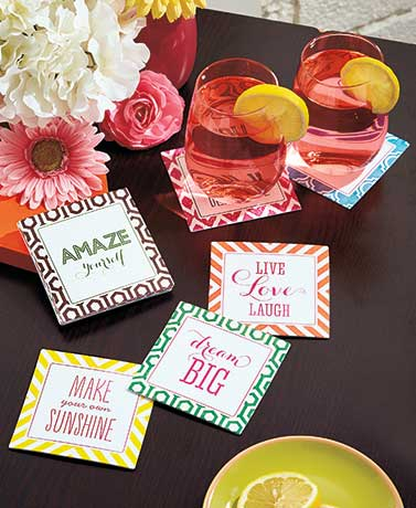 Set of 12 Chitchat Coasters