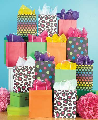 13-Pc. Kraft Gift Bag or 120-Pc.Tissue Sets