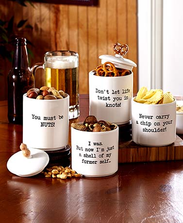3-Pc. Stacking Snack Jars