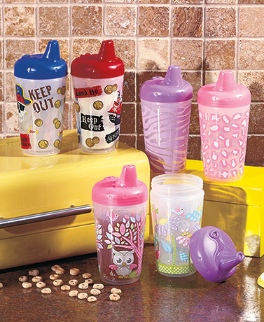 Sets of 2 Insulated Sippy Cups