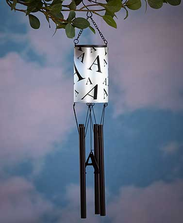 Solar Monogram Wind Chimes