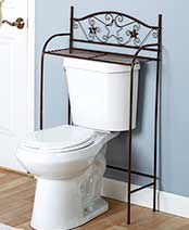 Bronze Scrolled Star Bath Organizers - Over Toilet Stand