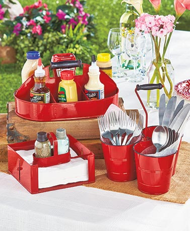 Red Outdoor Partyware