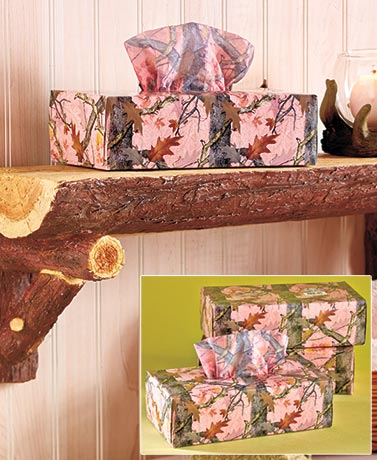 3-Pk. Camouflage Tissue Boxes